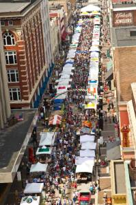 Gay Street, Downtown Knoxville, north half of street fair