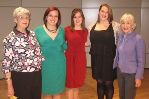 Left to Right, Phyllis Driver (district co-director), Linda Brimer, Leah Kaye Serr, Mabs Seay, Shelley Page (district co-director)