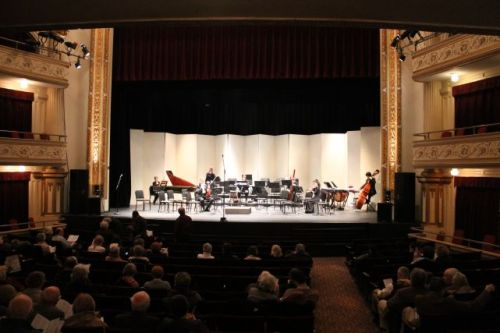 Knoxville Symphony Chamber Orchestra at the Bijou Theatre (Photograph courtesy of StuckInsideKnoxville.com)